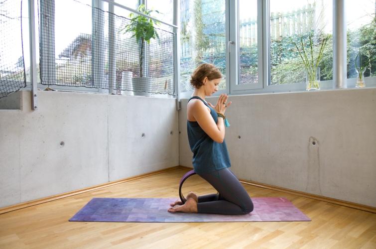 In der Meditation kann man auf dem Wheel sitzen.