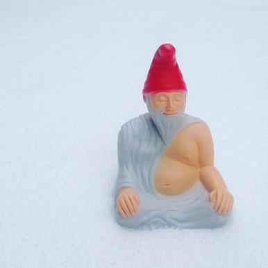 Zwuddha meditiert im Schnee
