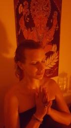 ayurvedische öl-Meditation